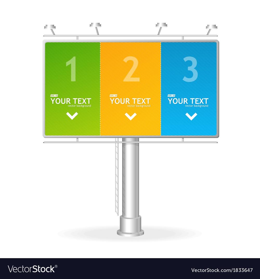 Billboard screen template123 concept vector | Price: 1 Credit (USD $1)