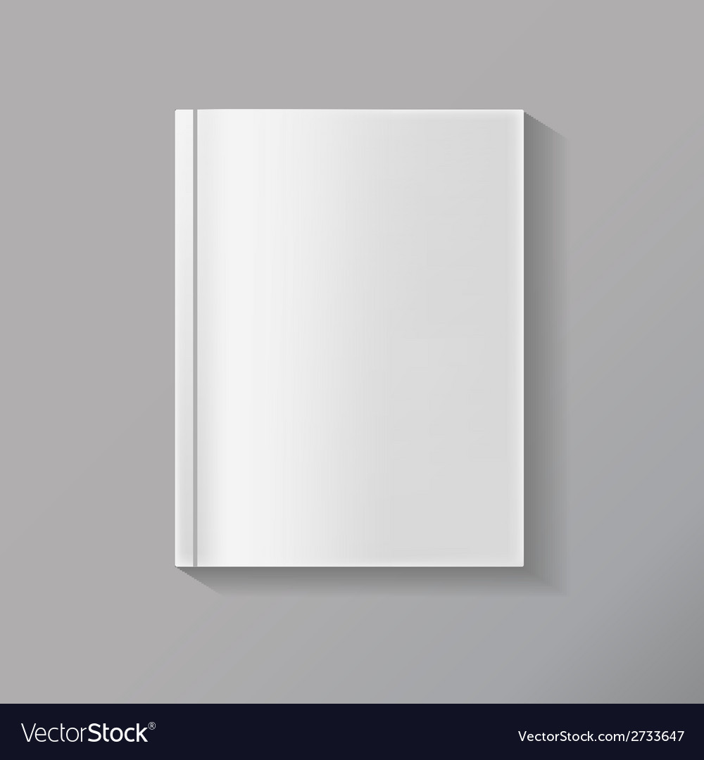 Blank book vector | Price: 1 Credit (USD $1)