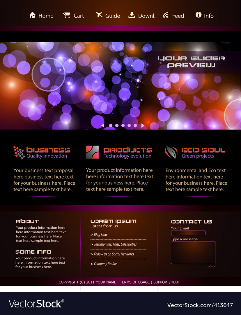 Business web template vector | Price: 1 Credit (USD $1)
