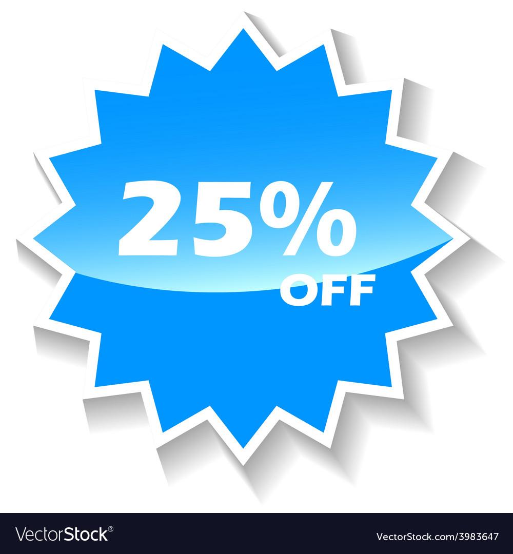Discount blue icon vector   Price: 1 Credit (USD $1)