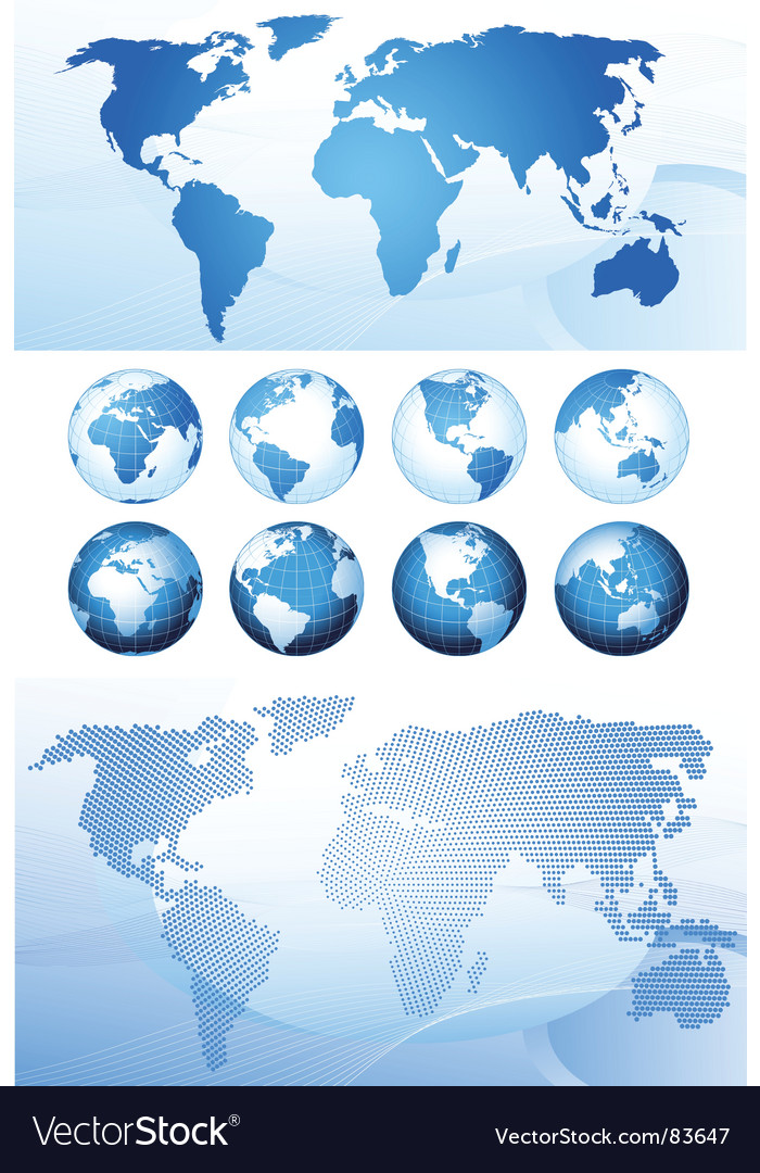 Global series and map background vector | Price: 1 Credit (USD $1)