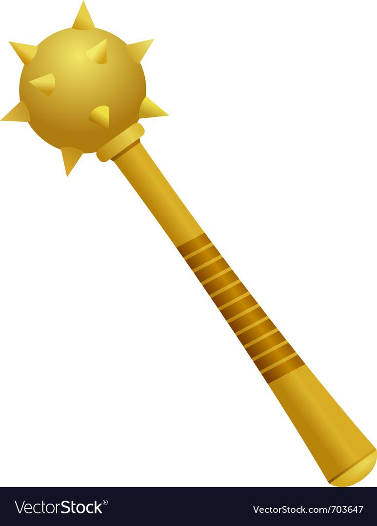Golden cossack maces vector | Price: 1 Credit (USD $1)