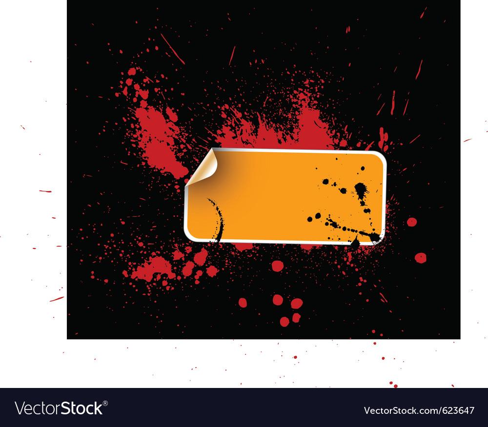 Grunge sticker vector   Price: 1 Credit (USD $1)