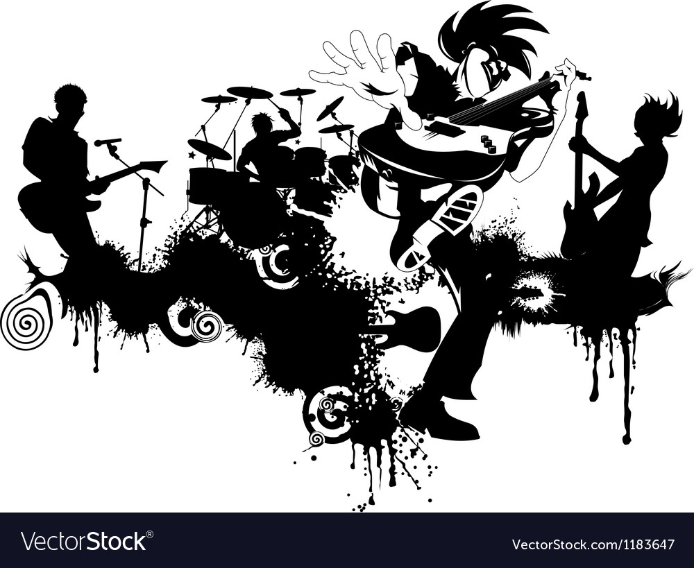 New punk rock graffiti vector | Price: 1 Credit (USD $1)