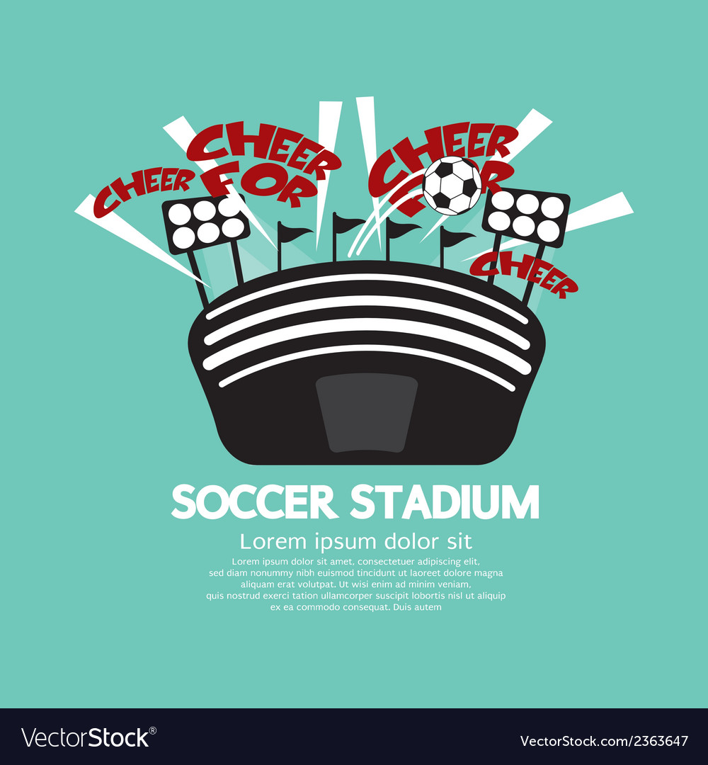Soccer stadium vector | Price: 1 Credit (USD $1)