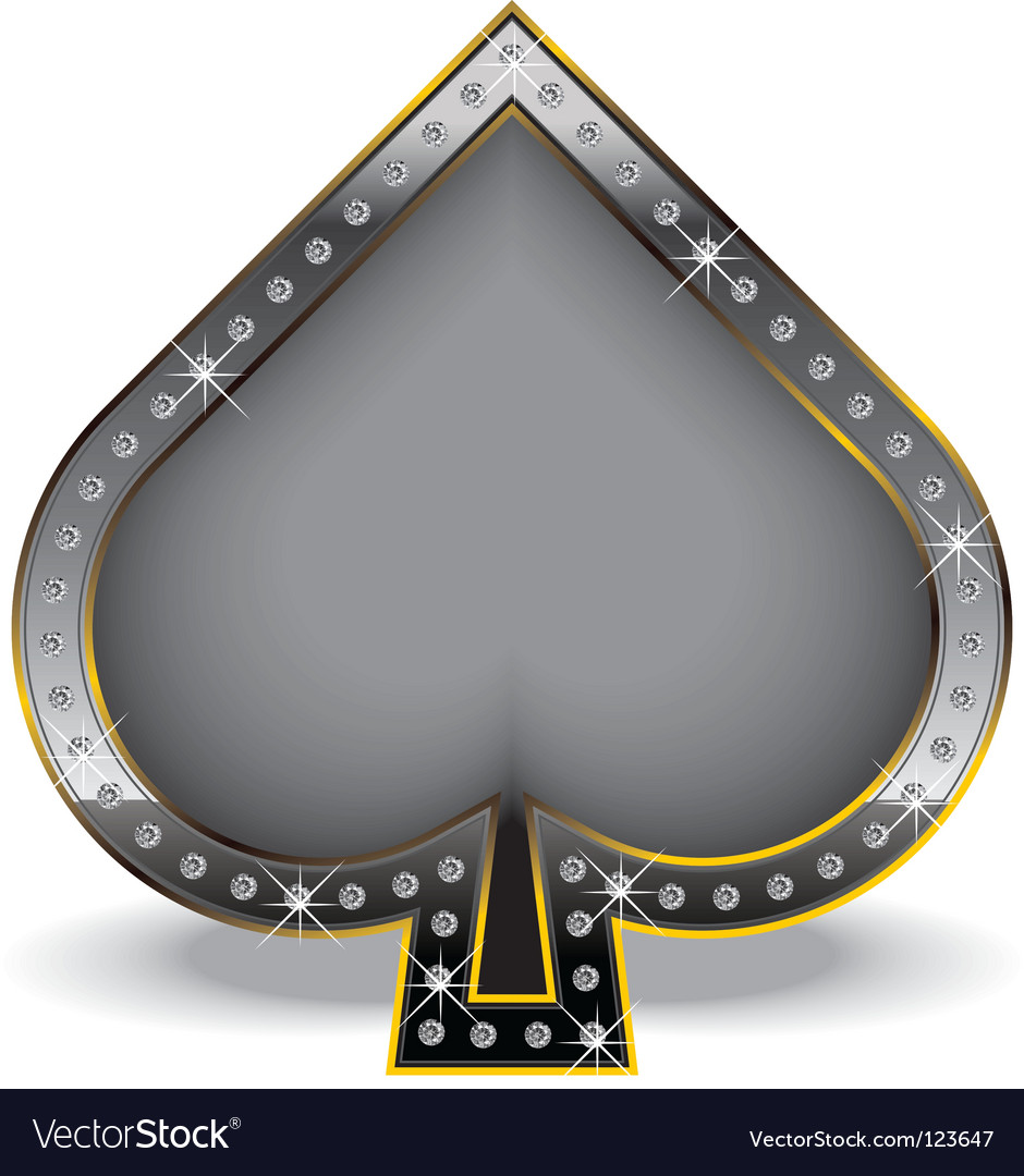 Spade with diamonds vector | Price: 1 Credit (USD $1)