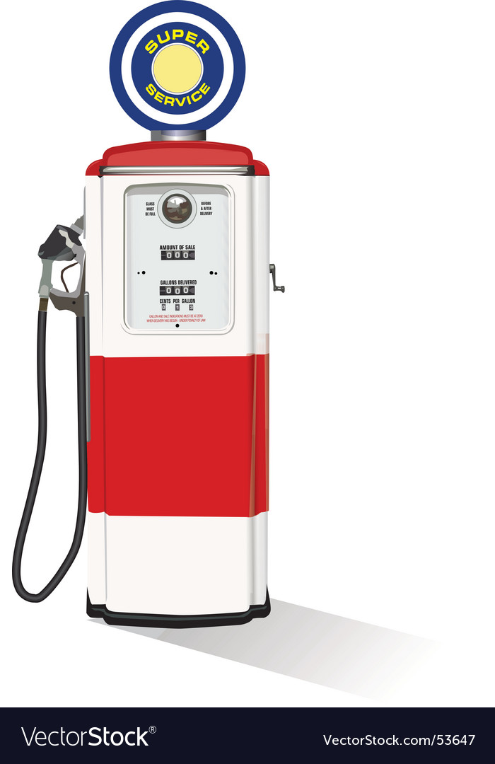 Vintage gasoline pump vector | Price: 1 Credit (USD $1)