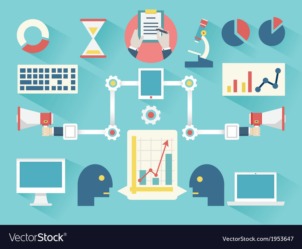 Work business proces vector | Price: 1 Credit (USD $1)