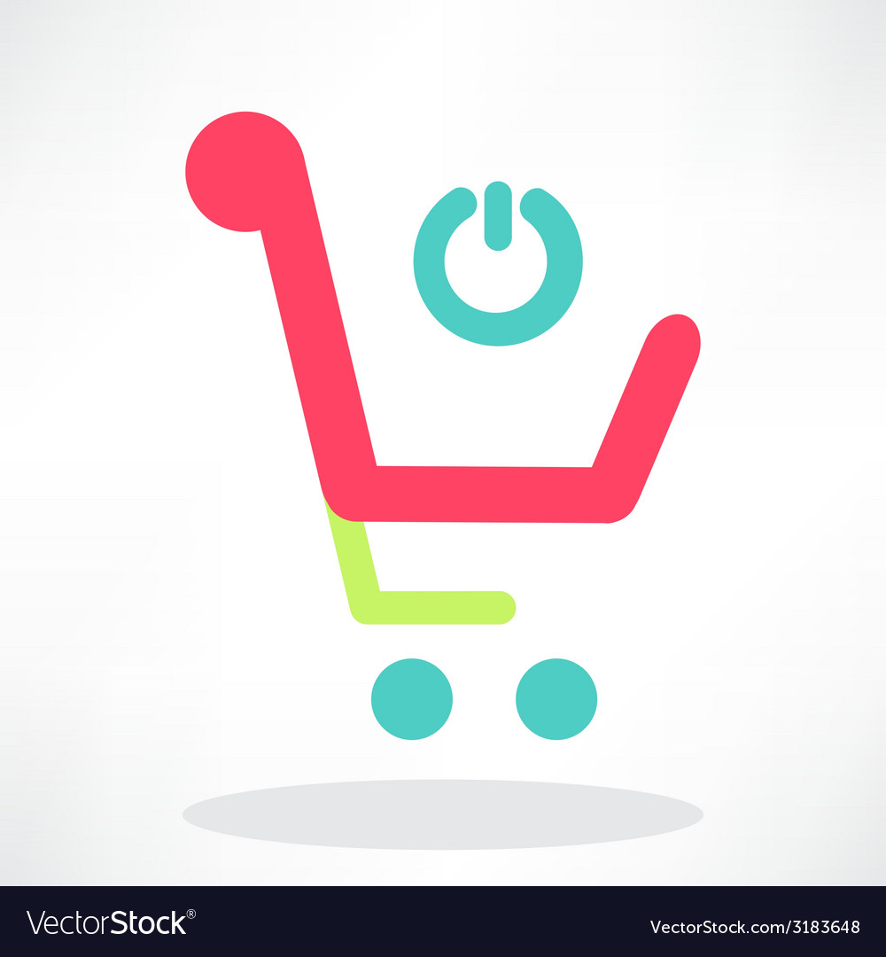 3d of shopping chart icon vector | Price: 1 Credit (USD $1)