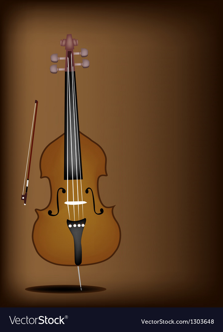 A beautiful double bass on dark brown background vector | Price: 1 Credit (USD $1)