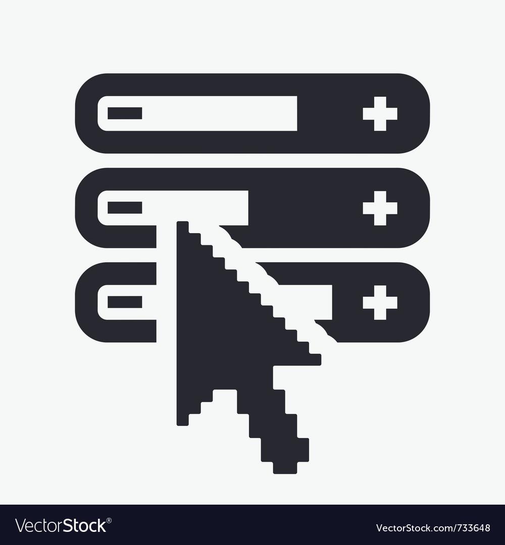 Adjust level icon vector | Price: 1 Credit (USD $1)