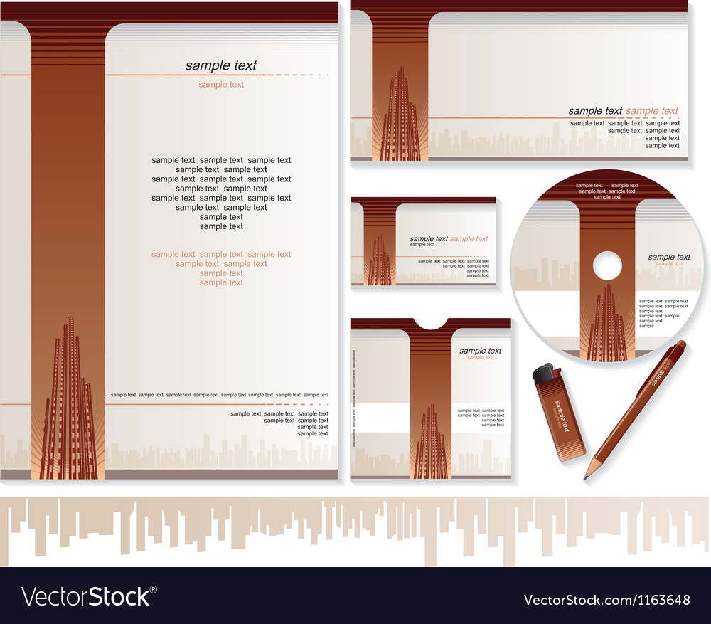 Business card brochure envelope design templates vector | Price: 3 Credit (USD $3)