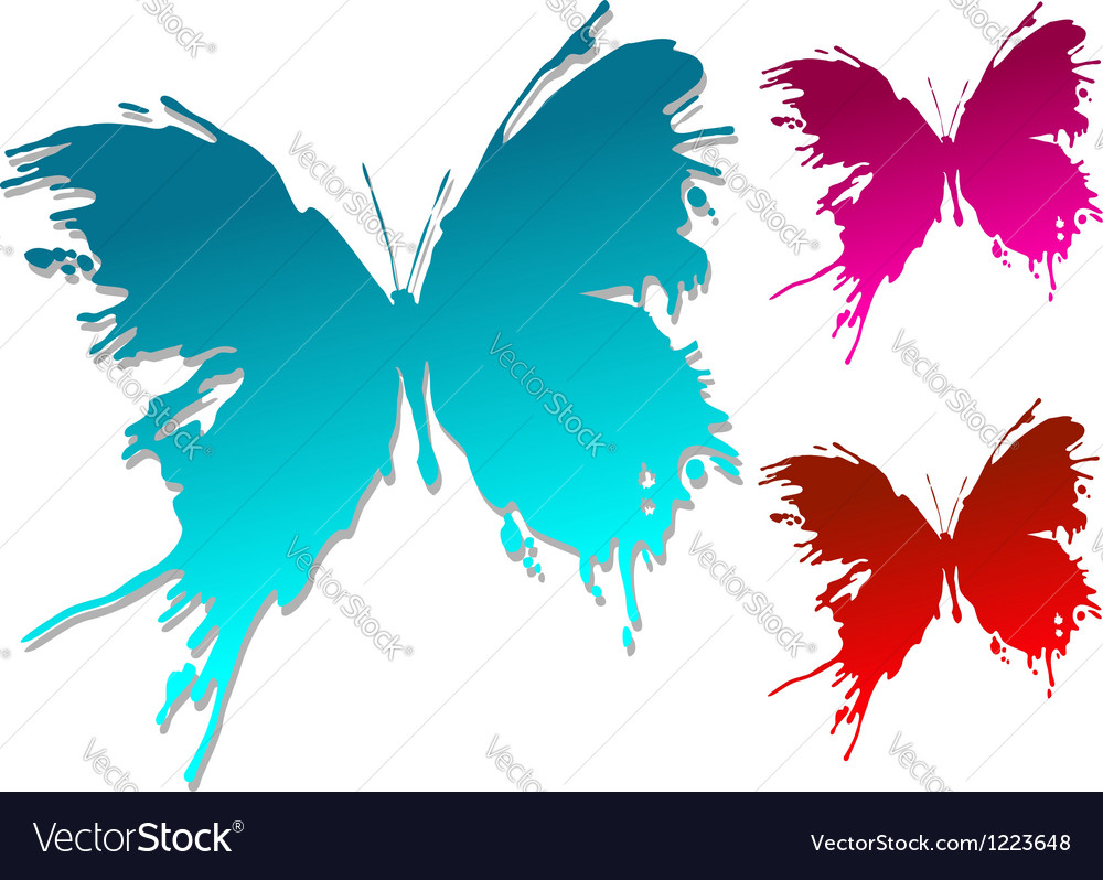 Colourful butterfly blots vector | Price: 1 Credit (USD $1)