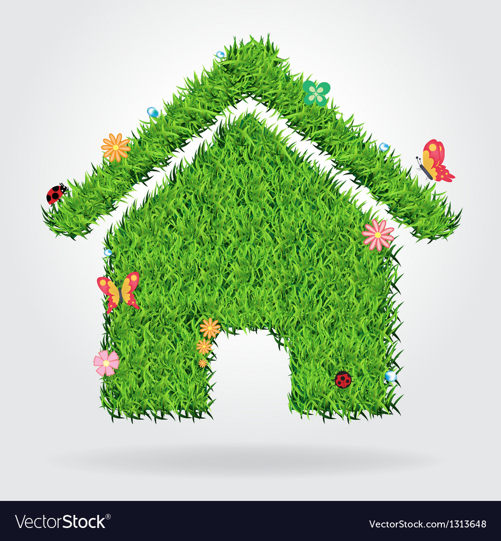 Creative eco house icon concept vector | Price: 1 Credit (USD $1)