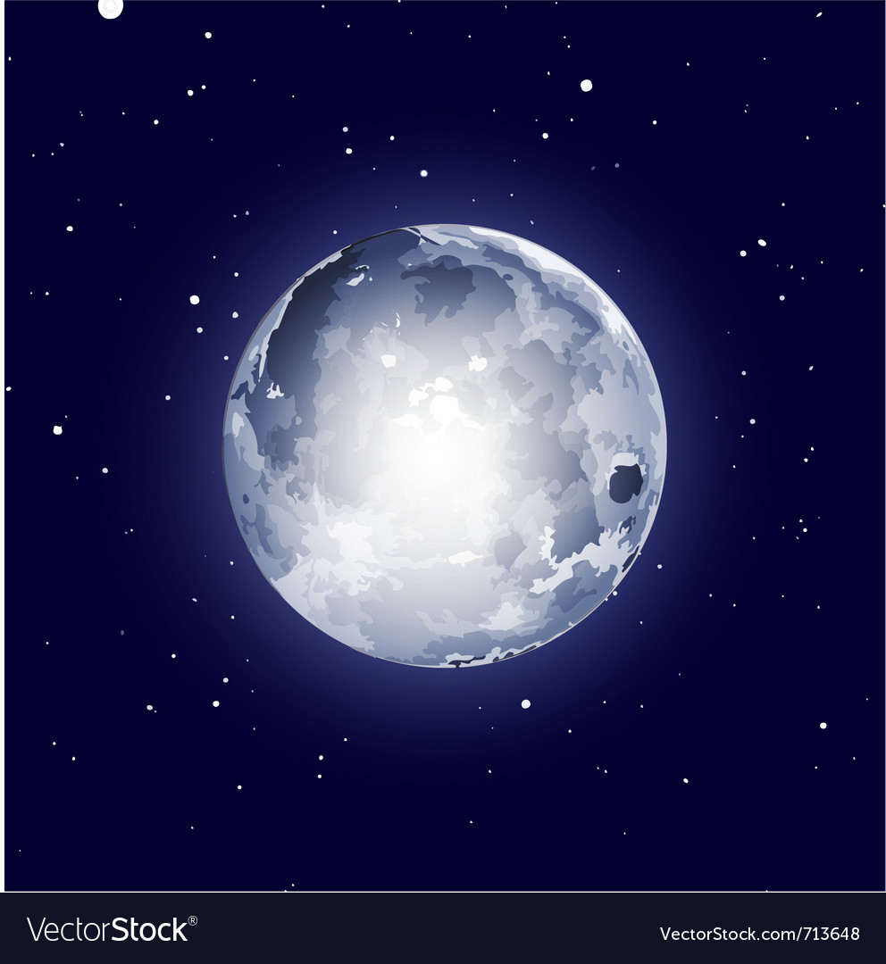 Full moon halloween background vector | Price: 1 Credit (USD $1)