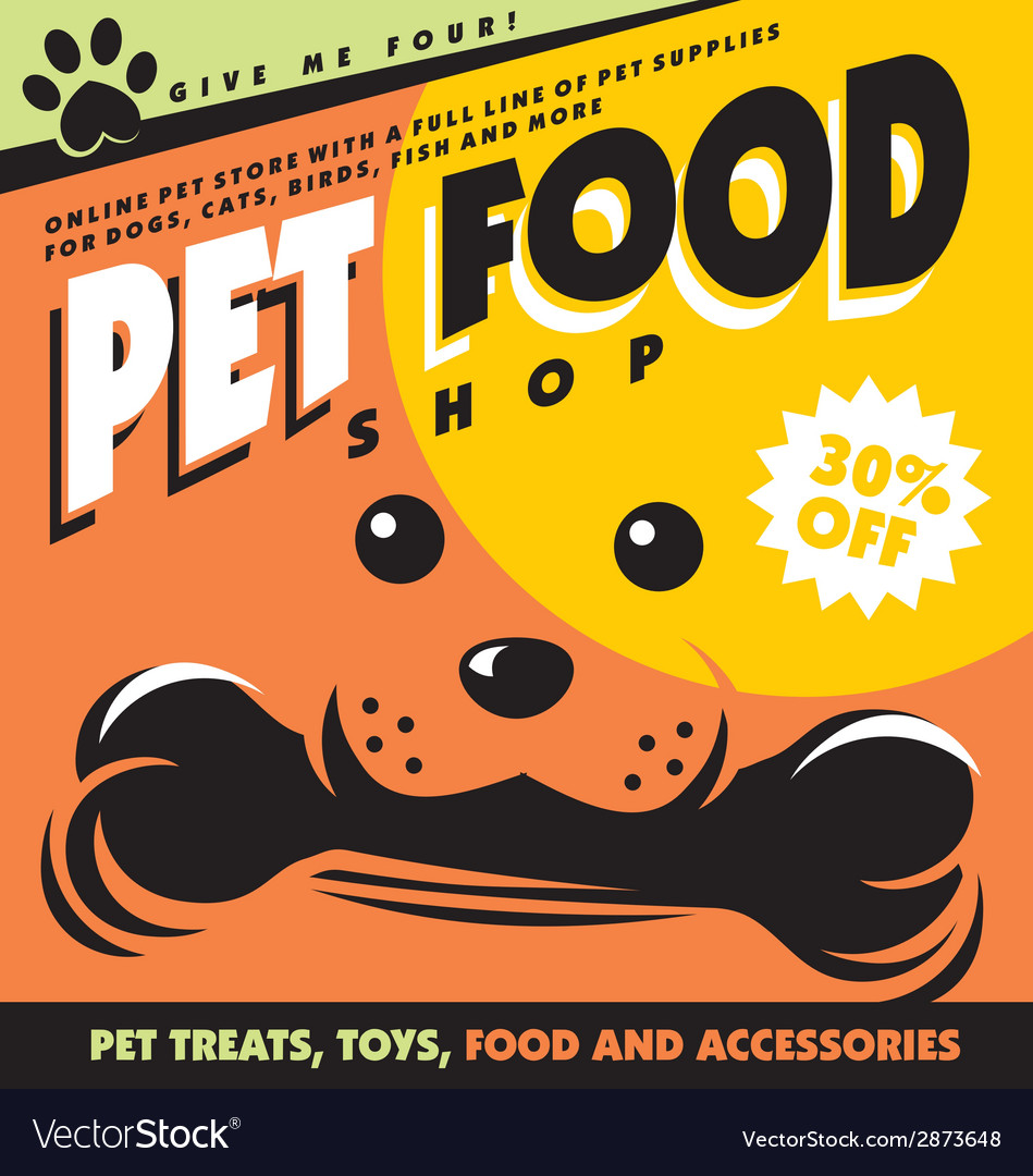 Pet food vector | Price: 1 Credit (USD $1)