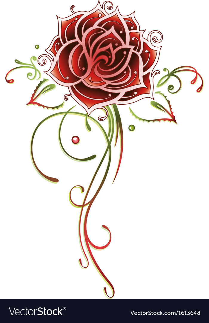 Rose flower love vector | Price: 1 Credit (USD $1)