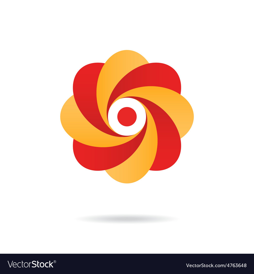 Segmented o letter - flower concept vector | Price: 1 Credit (USD $1)