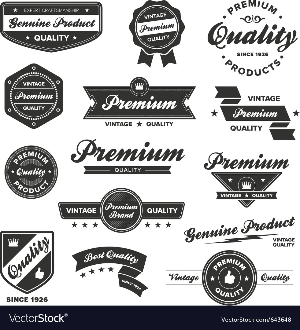 Vintage badges vector | Price: 3 Credit (USD $3)