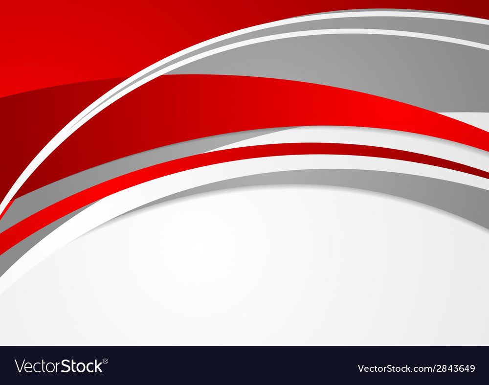 Abstract red and grey wavy background vector | Price: 1 Credit (USD $1)