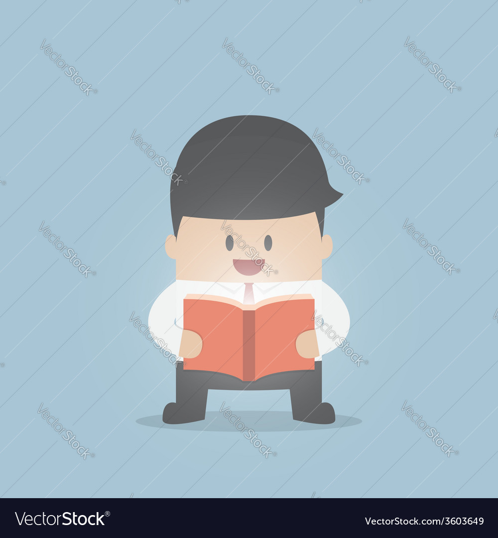 Businessman reading the shining book vector | Price: 1 Credit (USD $1)