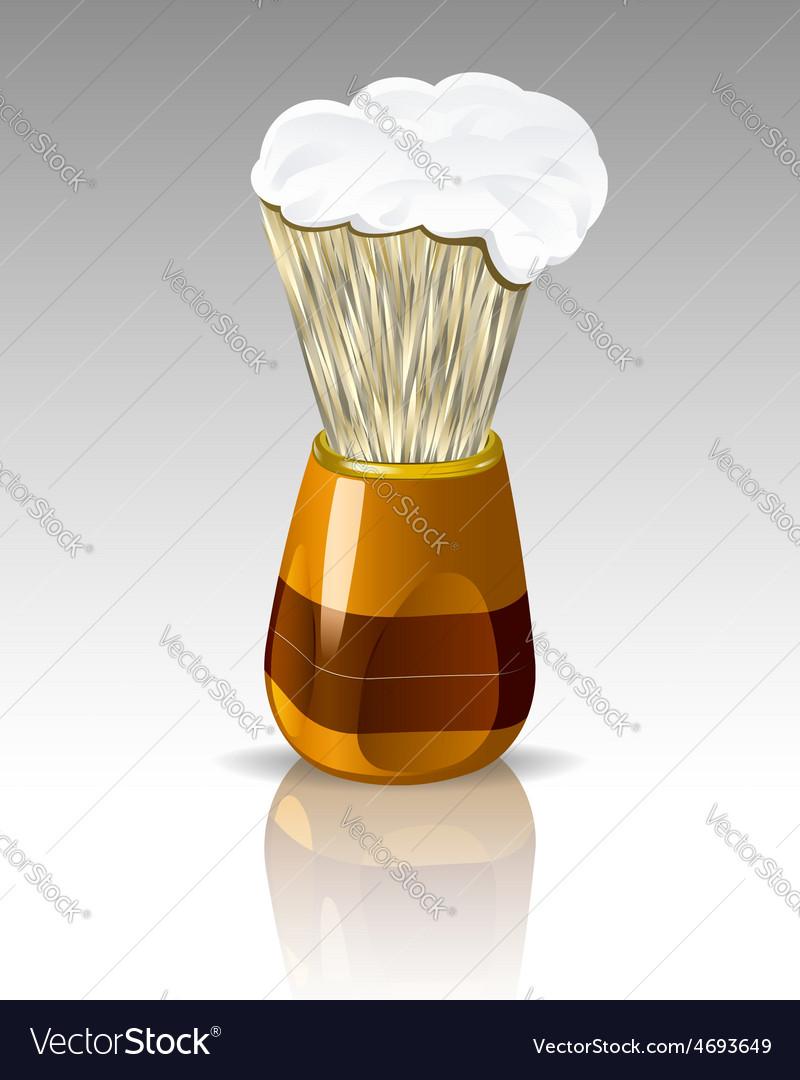 Shaving brush with foam vector | Price: 1 Credit (USD $1)