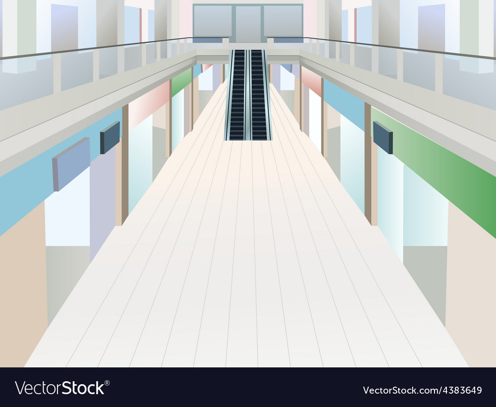 Shopping mall with two floors vector | Price: 1 Credit (USD $1)
