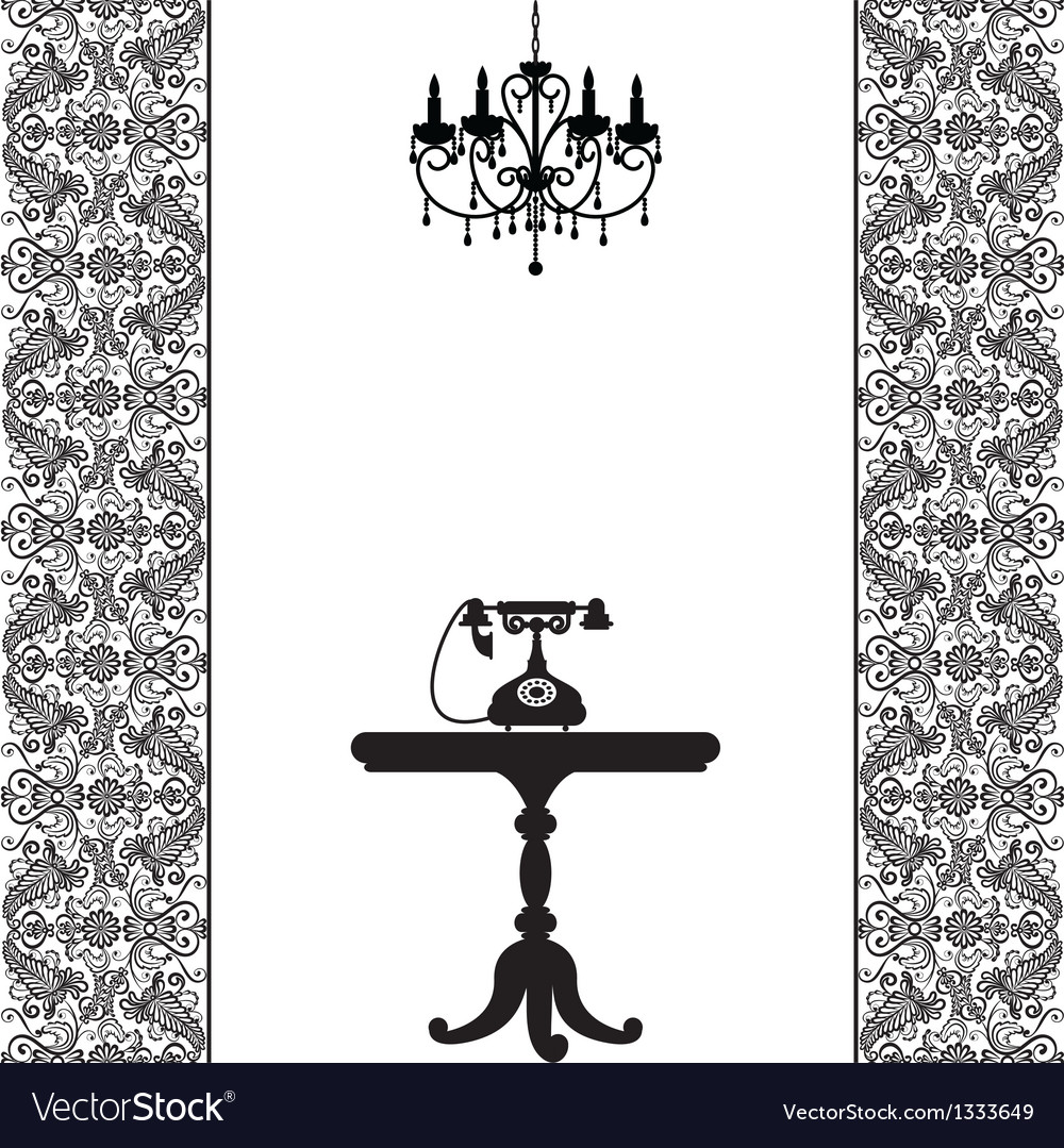 Telephone table and chandelier vector | Price: 1 Credit (USD $1)