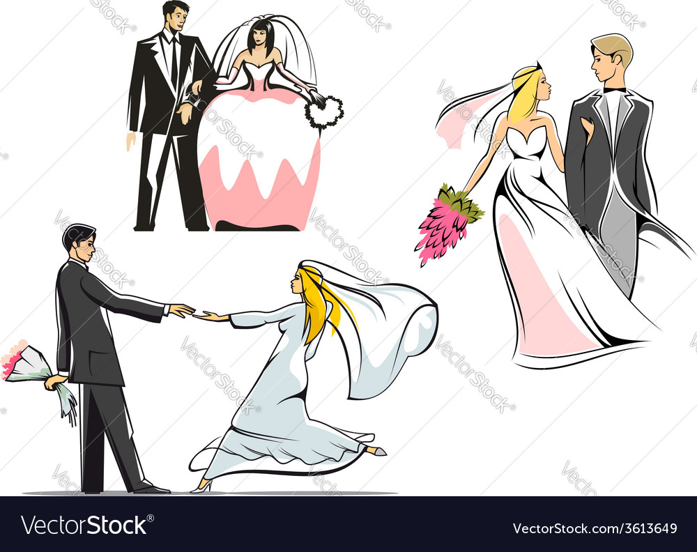 Wedding couples icons vector | Price: 1 Credit (USD $1)