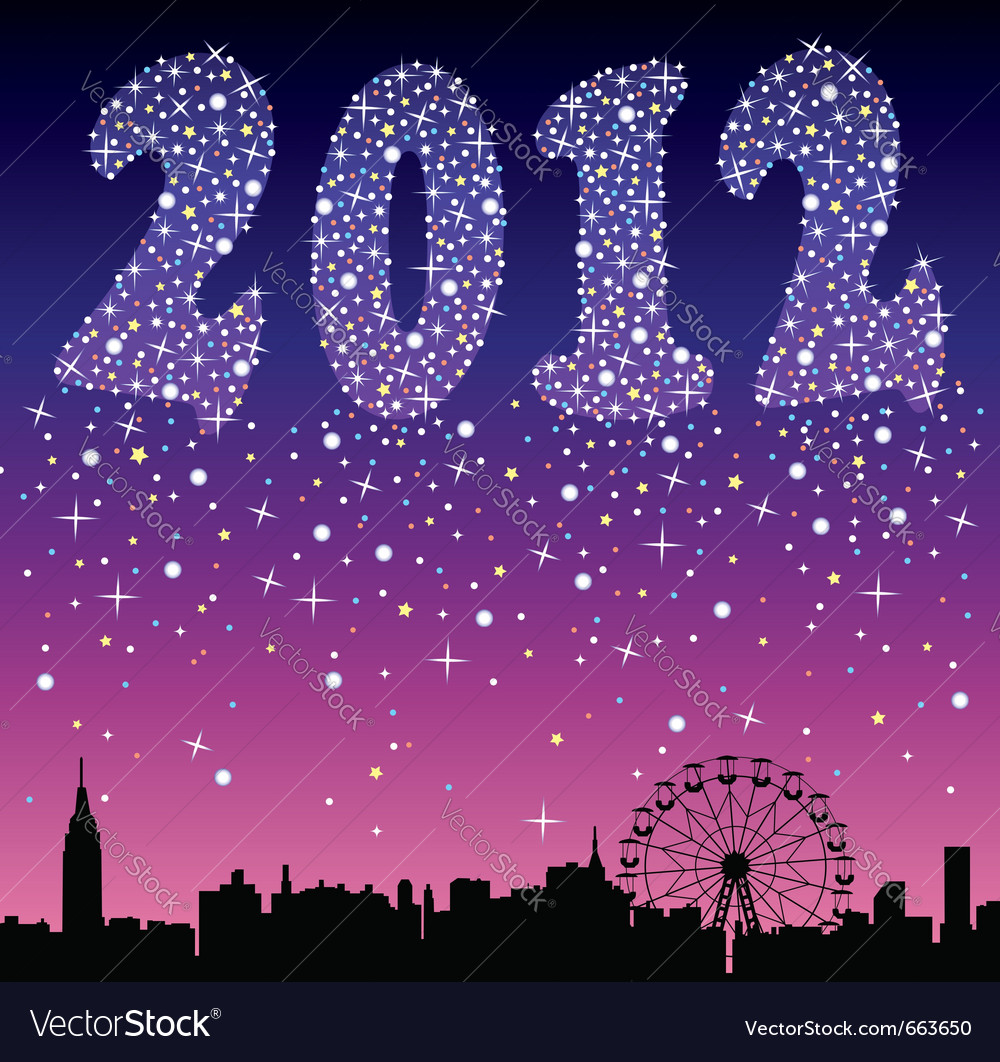2012 urban holiday background vector | Price: 1 Credit (USD $1)
