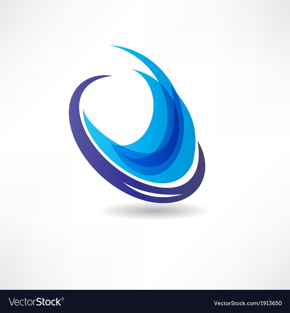 Abstract blue water icon vector | Price: 1 Credit (USD $1)