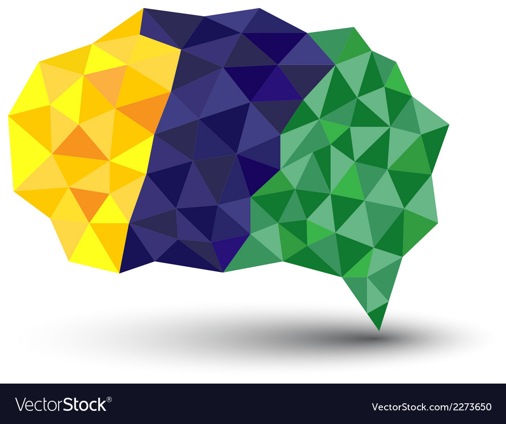 Abstract geometric speech bubble with triangular p vector | Price: 1 Credit (USD $1)