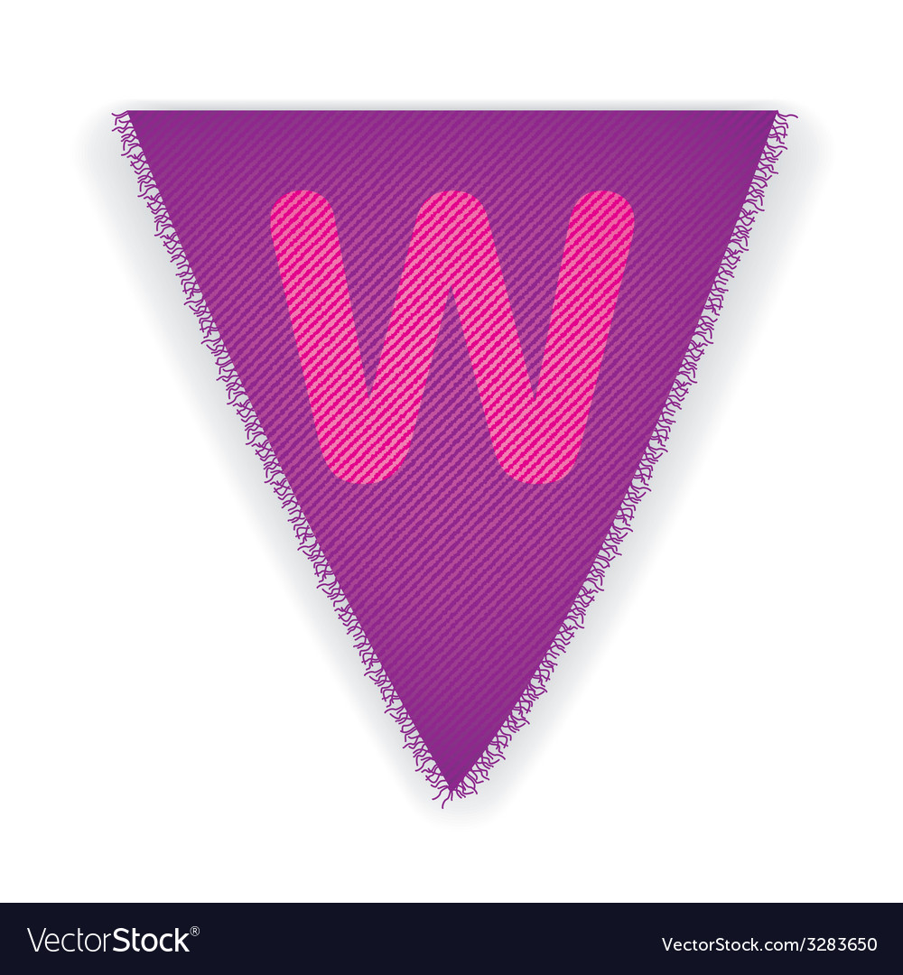 Bunting flag letter w vector | Price: 1 Credit (USD $1)