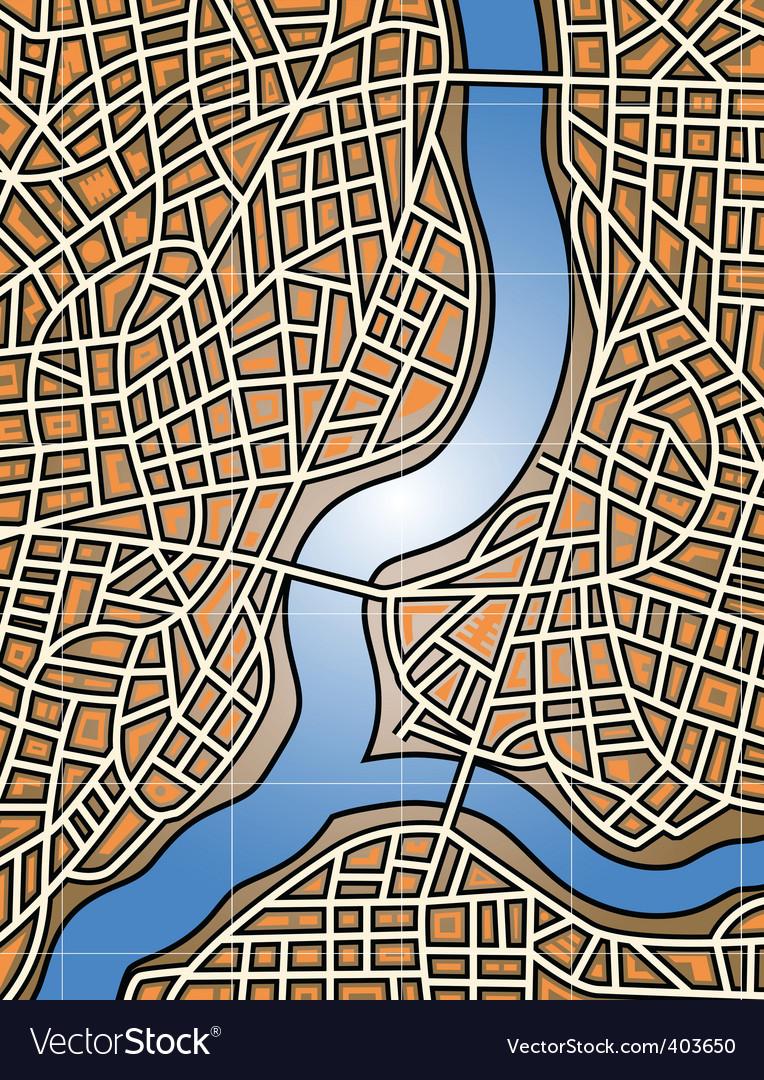 City river vector | Price: 1 Credit (USD $1)
