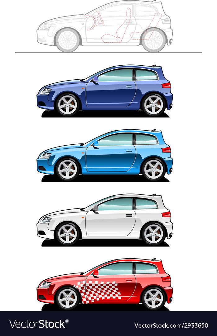 Hatchback vector   Price: 1 Credit (USD $1)