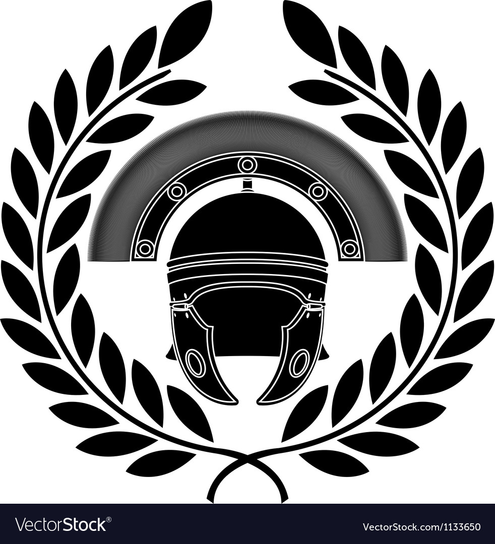 Roman helmet stencil third variant vector | Price: 1 Credit (USD $1)