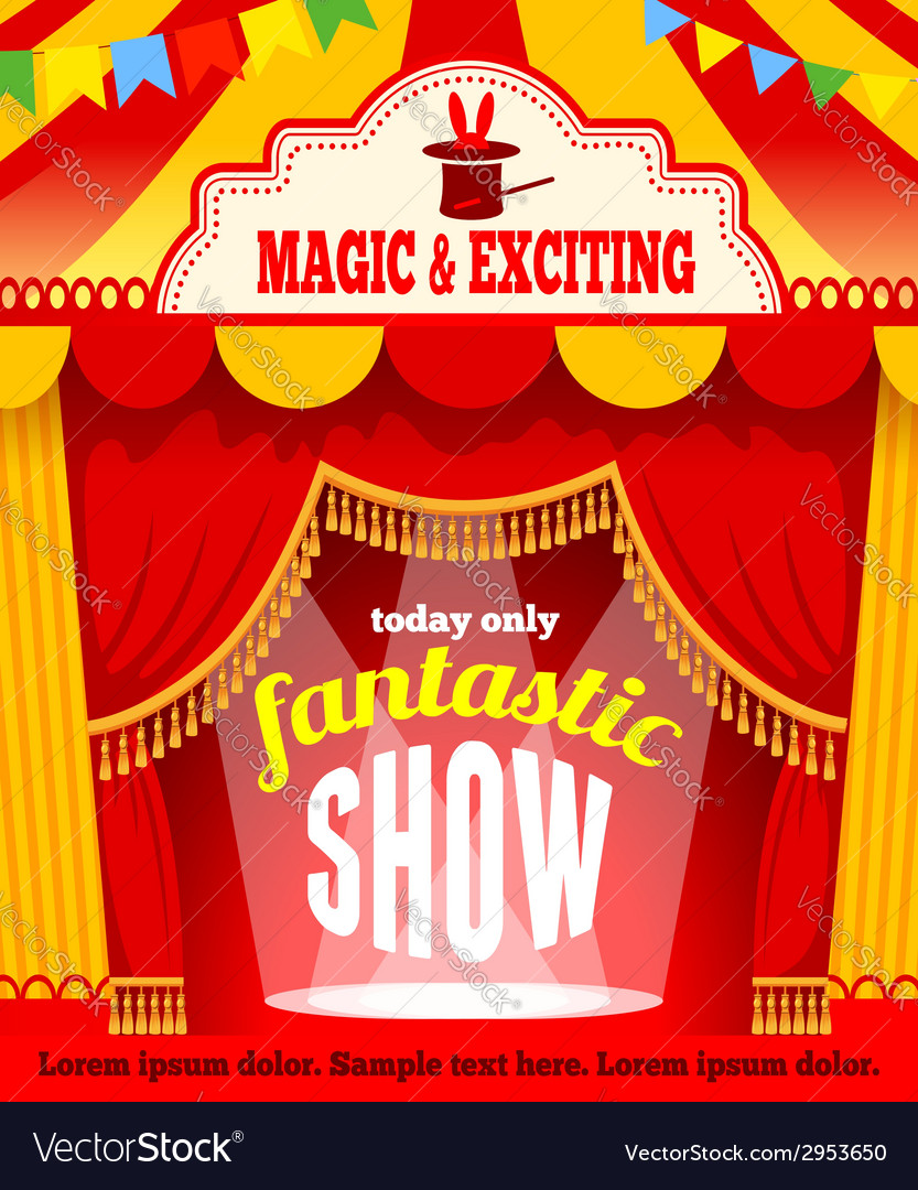 Show poster vector | Price: 1 Credit (USD $1)