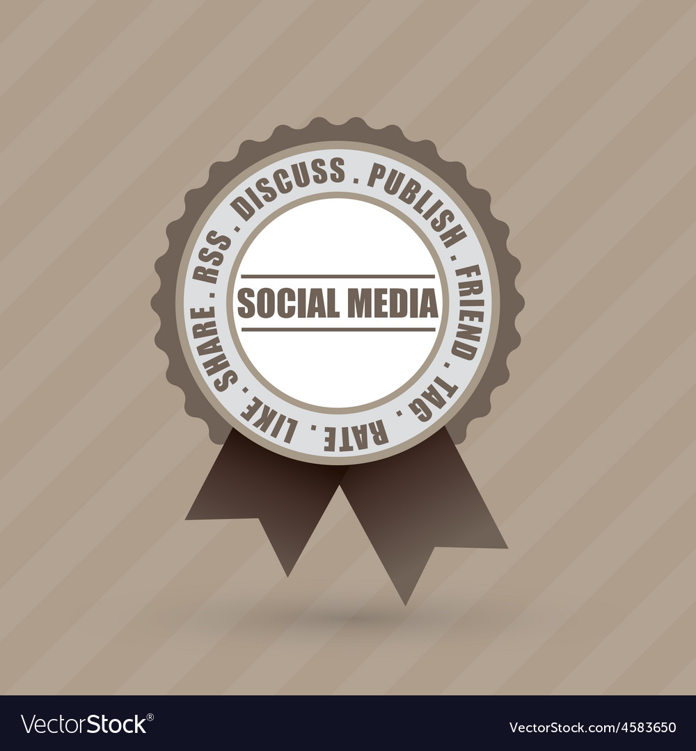 Social badge label vector | Price: 1 Credit (USD $1)