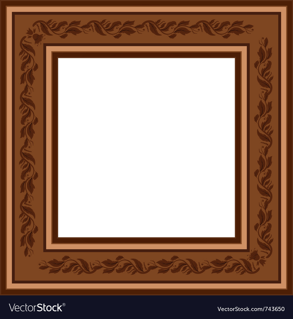 Vintage retro frame with foliage vector | Price: 1 Credit (USD $1)
