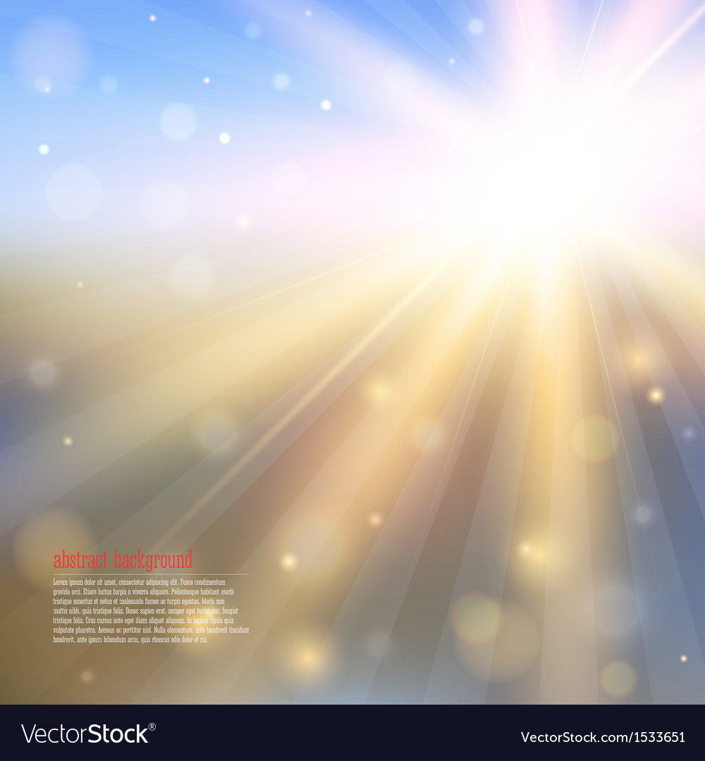 Abstract background with shining sun vector | Price: 1 Credit (USD $1)