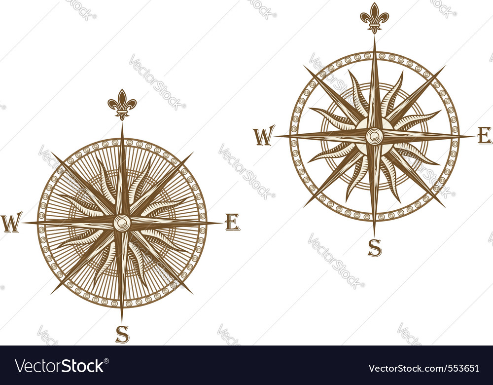 Ancient compass vector | Price: 1 Credit (USD $1)