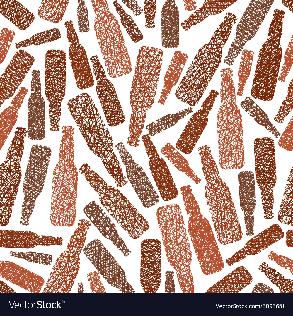Beer bottles seamless pattern pub theme seamless vector | Price: 1 Credit (USD $1)