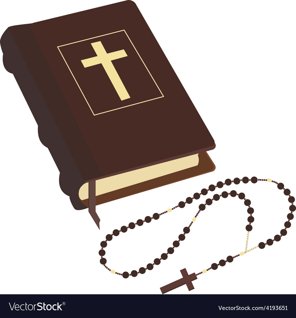 Bible and rosary vector | Price: 1 Credit (USD $1)
