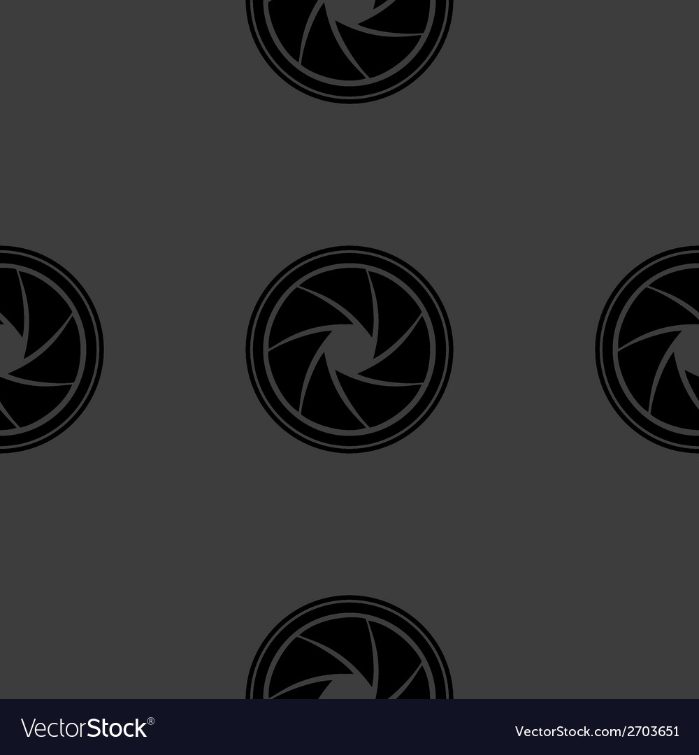 Photo camera diaphragm web icon flat design vector   Price: 1 Credit (USD $1)