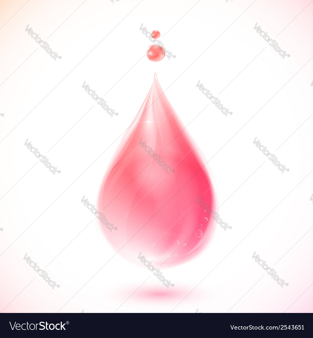 Pink liquid soap or oil drop vector | Price: 1 Credit (USD $1)