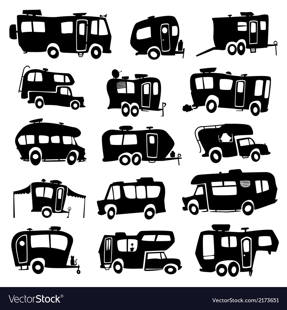 Recreational vehicles icons vector | Price: 1 Credit (USD $1)
