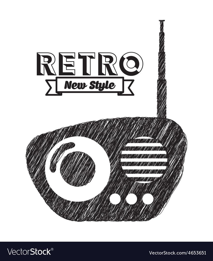 Retro device vector   Price: 1 Credit (USD $1)