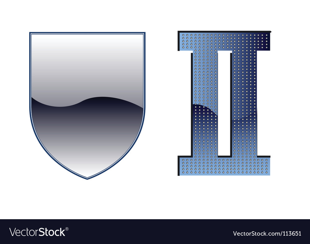 Shield  wwii emblem template vector | Price: 1 Credit (USD $1)