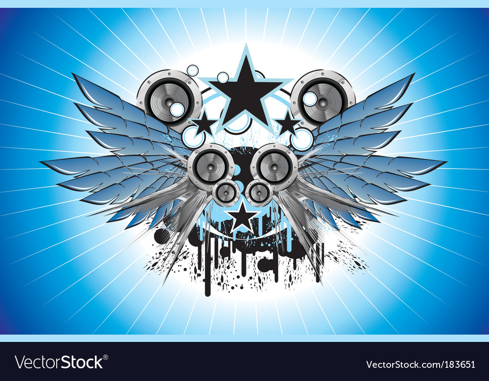 Sound and music frame vector | Price: 3 Credit (USD $3)