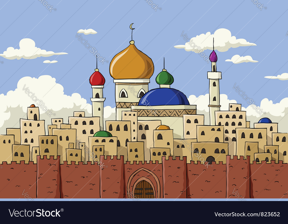 Arabic town vector | Price: 1 Credit (USD $1)